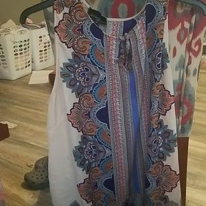 cynthia rowley 3x dressy sleeveless blouse